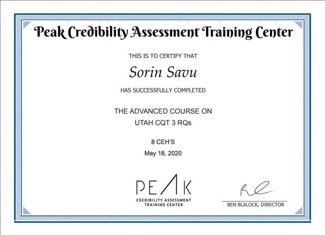 Certificare UTAH CQT
